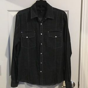 CJ Black Gray Textured Shirt